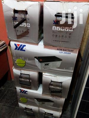 200ah 12v YIL Agm Battery Available With 1yr Warranty | Solar Energy for sale in Lagos State, Ojo