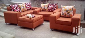 Full Set Of 7 Seaters Of Sofa Chairs, Couches. Orange   Furniture for sale in Lagos State
