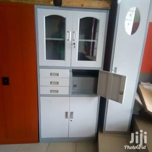 Imported Best Quality Filling Metal Half Glass Cabinet With Safe | Safetywear & Equipment for sale in Lagos State, Ojo