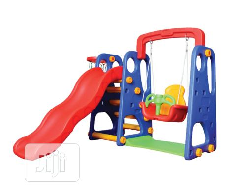 Archive: 3 In 1 Children Slide With Swing And Basketball