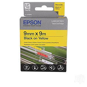 Epson 9mmx9m Black on Yellow Laminated Tape | Computer Accessories  for sale in Lagos State, Ikeja
