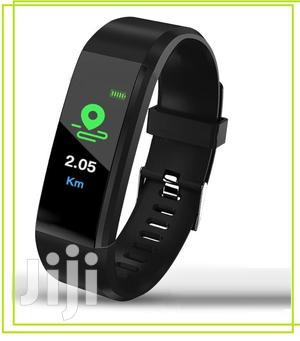 115 Smart Bracelet Tracker Heart Rate Monitor Sports Fitness | Smart Watches & Trackers for sale in Lagos State, Ikeja