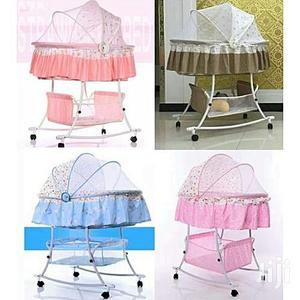 Swing Trolley Baby Bed With Mosquito Net+Cotton Mat-0-12m | Children's Furniture for sale in Lagos State, Lagos Island (Eko)