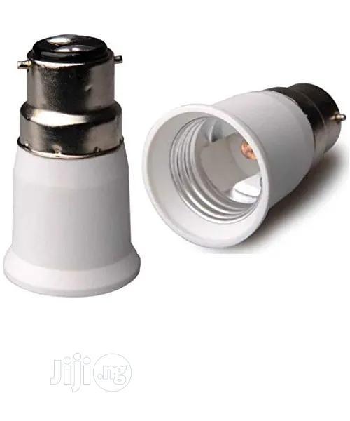 B22 Male Pin To E27 Female Srew Bulb Lamp Socket Converter Adapter