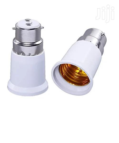 B22 Male Pin To E27 Female Srew Bulb Lamp Socket Converter Adapter   Electrical Equipment for sale in Surulere, Lagos State, Nigeria