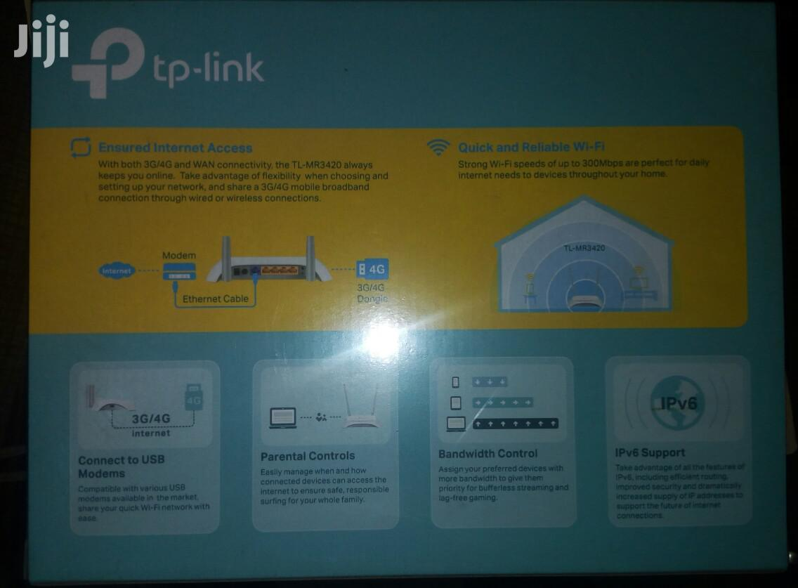 Tp-link TL-MR3420 300mbps 3G/4G Wireless N Router | Networking Products for sale in Ikeja, Lagos State, Nigeria