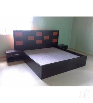 Available Bed Frame 6*6 With 2 Bed Side Drawer | Furniture for sale in Lagos State, Isolo