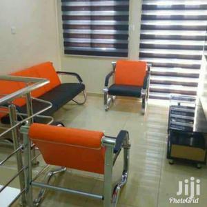 Imported Executive Orange and Black Sofa   Furniture for sale in Lagos State, Ikeja