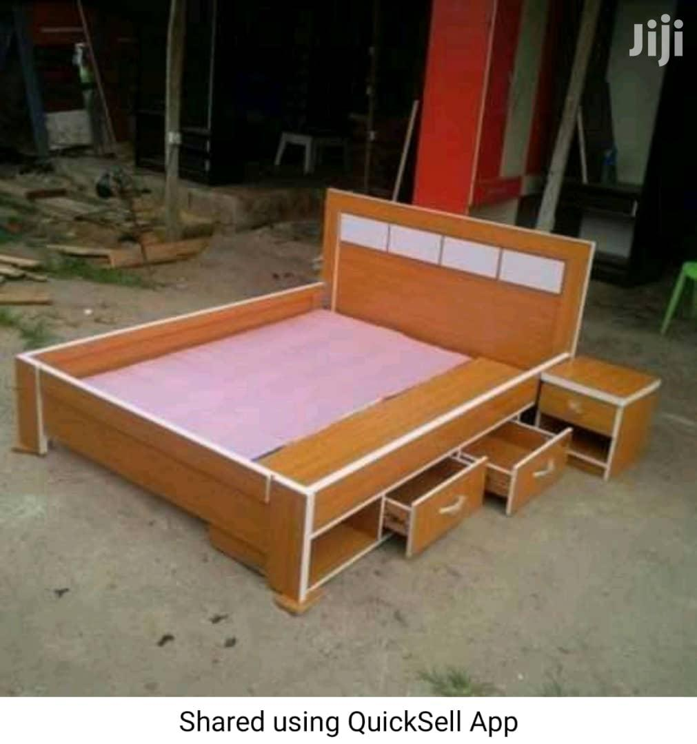 Bed Frame 6x6 With 2 Bed Side Drawer And Under Cabinet