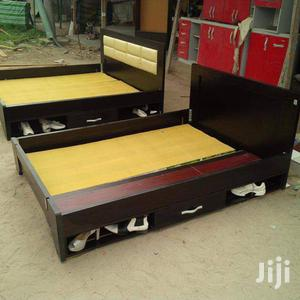 New Design Bed Frame 6x6 With 2bedside Drawer And Under Cabinet   Furniture for sale in Lagos State, Surulere