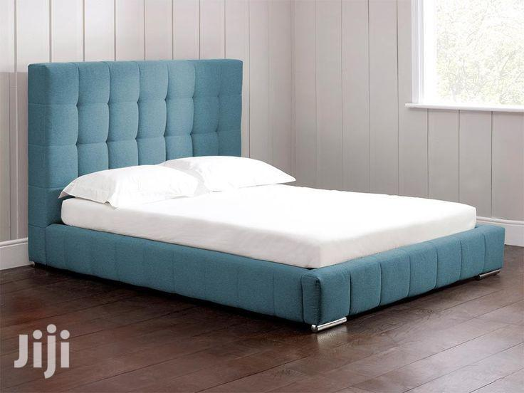 Upholstery Frabic Sofas Bed Frame With 2 Bed Side Drawer