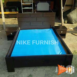 Available Bed Frame,6x6 With 2bed Side Drawer   Furniture for sale in Lagos State