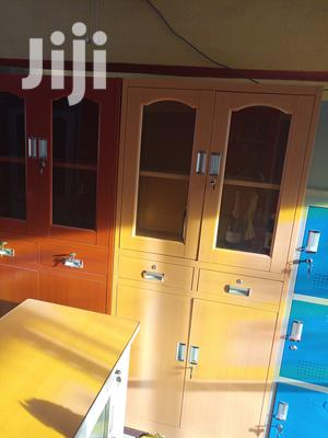 Imported High Quality Half Glass Metal Book Shelves | Furniture for sale in Lagos State, Lekki