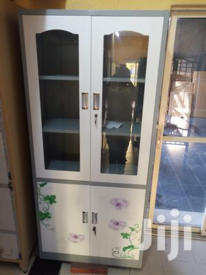 Imported Best Quality Partition Half Glass Metal Shelves | Furniture for sale in Lagos State, Lekki