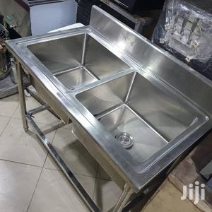 Stainless Steel Sink Double Bowl | Restaurant & Catering Equipment for sale in Lagos State, Ojo