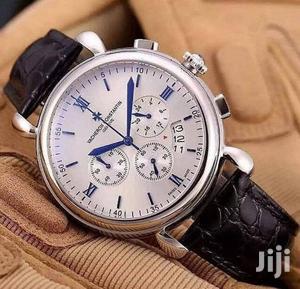 Vacheron Constantin Chronograph Silver Leather Strap Watch | Watches for sale in Lagos State, Lagos Island (Eko)