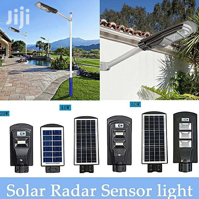 20W/40W/60W LED Solar Power Street Light PIR Motion Sensor Wall Light | Solar Energy for sale in Ojo, Lagos State, Nigeria