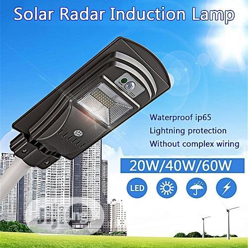 20W/40W/60W LED Solar Power Street Light PIR Motion Sensor Wall Light