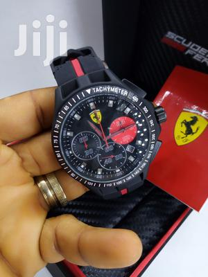Ferrari Chronograph Black Rubber Strap Watch | Watches for sale in Lagos State, Lagos Island (Eko)