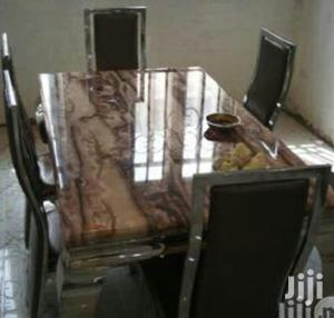 Quality Marble Dining Table by Six Seater | Furniture for sale in Lagos State, Badagry