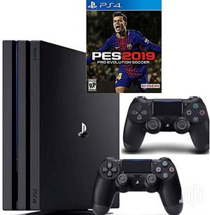 Playstation 4 SLIM CONSOLE 500GB With FIFA 19 Cd and 2 PAD   Video Game Consoles for sale in Lagos State, Ikeja