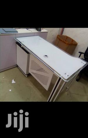 White Glass And Wood Office Table 4ft | Furniture for sale in Lagos State, Ikoyi