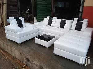 L-Shaped Sofa, a Single Seater Chair and Centre Table. White Couches   Furniture for sale in Lagos State, Ikorodu