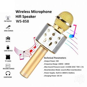 Wireless Karaoke Bluetooth Microphone HIFI Speaker   Audio & Music Equipment for sale in Lagos State, Ikeja