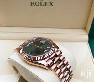 Rolex Oyster Perpetual Day-Date Rose Gold Green Face Chain Watch | Watches for sale in Lagos State, Lagos Island (Eko)