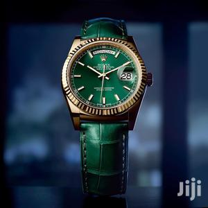 Rolex Oyster Perpetual Day-Date Green Leather Strap Watch | Watches for sale in Lagos State, Lagos Island (Eko)