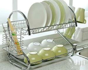 Generic Stainless Plate Rack - 2 Tier - Silver   Kitchen & Dining for sale in Lagos State, Lagos Island (Eko)