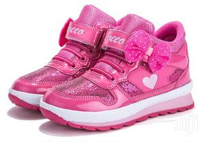 Pink High Top Canvas Sneakers for Girls | Children's Shoes for sale in Lagos State, Lagos Island (Eko)