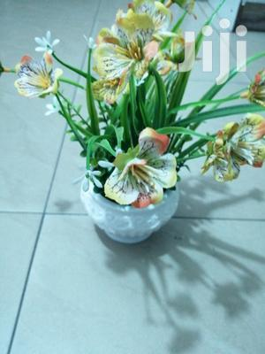 Artificial Potted Mini Cup Flowers For Decor At Sales | Garden for sale in Delta State, Bomadi