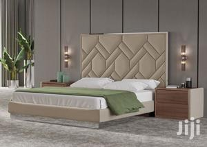 Melosing Upholstery Leather Bed 6x6 It Have 2bedside Drawer | Furniture for sale in Lagos State, Lekki