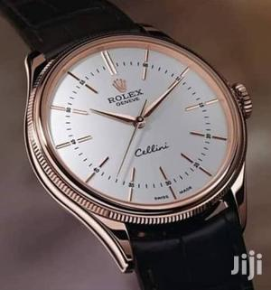 Rolex Rose Gold Leather Strap Watch for Unisex | Watches for sale in Lagos State, Lagos Island (Eko)