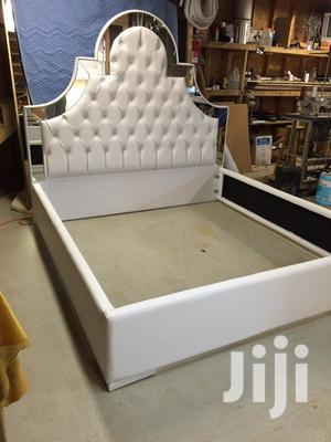 Malia Upholstery Leather Bed It Have 2bedside Drawer   Furniture for sale in Lagos State, Lekki