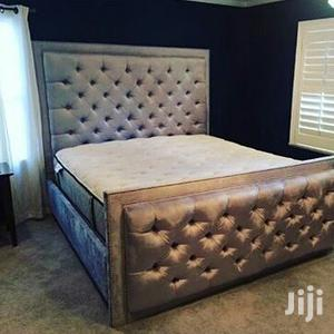 Upholstery Frabic Bed Frame 6x6 It Have 2bedside Drawer | Furniture for sale in Lagos State, Isolo