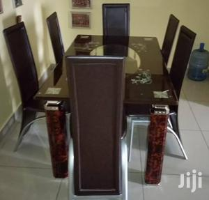 Quality Strong Tinted Glass Dining Table by Six Seater | Furniture for sale in Lagos State, Oshodi