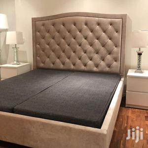 Available Upholstery Sofas Frabic Bed Frame 6x6 It Have 2bedside   Furniture for sale in Lagos State, Ikoyi