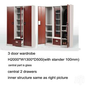 High Quality Metal Wardrobe With Mirror and Drawers | Furniture for sale in Lagos State, Lagos Island (Eko)
