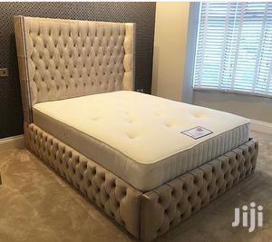 Upholstery Sofas Frabic Bed Frame 6by6 It Have 2bedside Drawer   Furniture for sale in Lagos State, Ikoyi