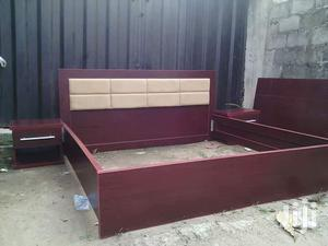 Available Quality Bed Frame 6x6 With 2bedside Drawer   Furniture for sale in Lagos State, Ikeja