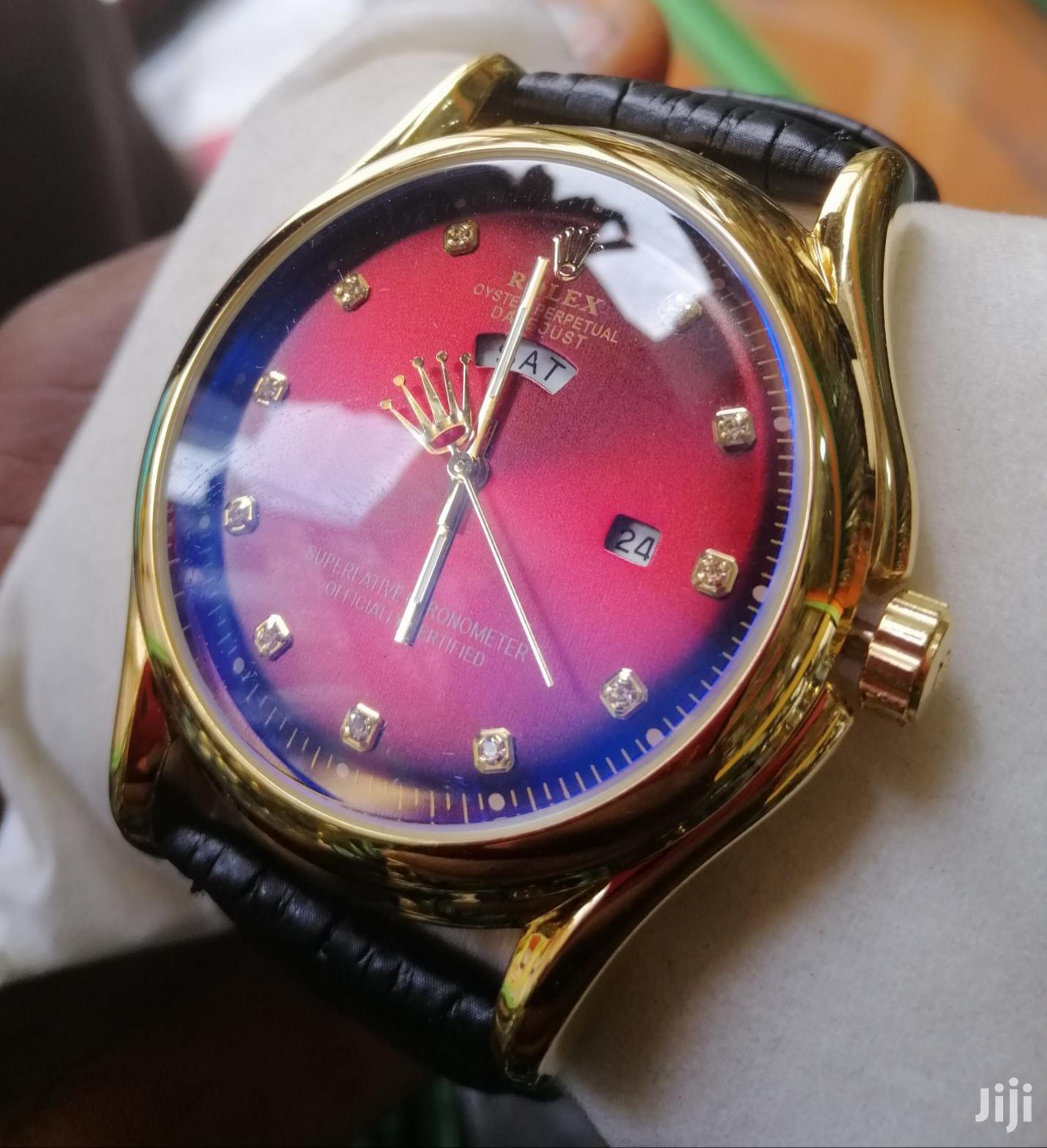 Rolex Leather Wrist Watch