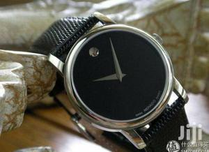 Movado Silver Leather Strap Watch | Watches for sale in Lagos State, Lagos Island (Eko)