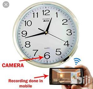 Wall Clock Hidden Camera WIFI Spy Camera HD Wall Clock   Security & Surveillance for sale in Lagos State, Ikeja