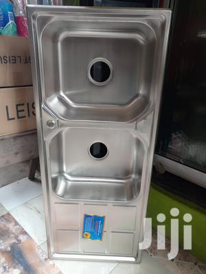Double Bowl With Single Tray Stainless Steel Sink | Building Materials for sale in Lagos State, Orile