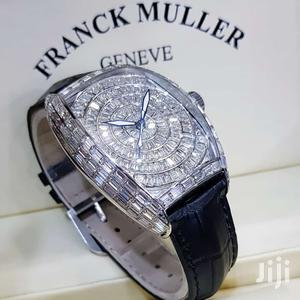 Franck Muller Silver Full Ice Leather Strap Watch | Watches for sale in Lagos State, Lagos Island (Eko)