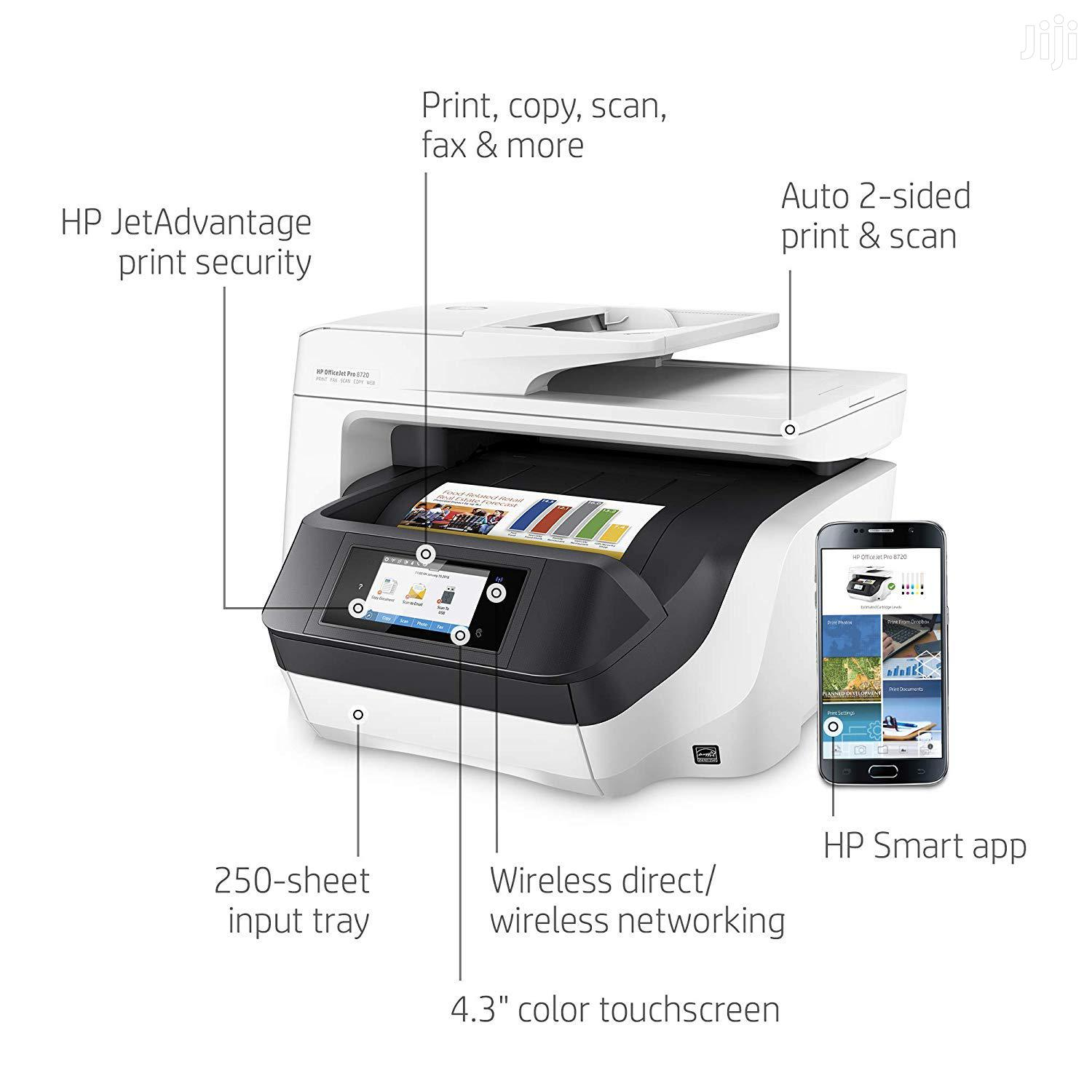 HP Officejet Pro 8720 All-In-One Printer | Printers & Scanners for sale in Wuse 2, Abuja (FCT) State, Nigeria