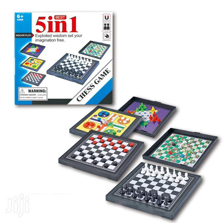 Chess Game - Mini Five - In - One Board Game