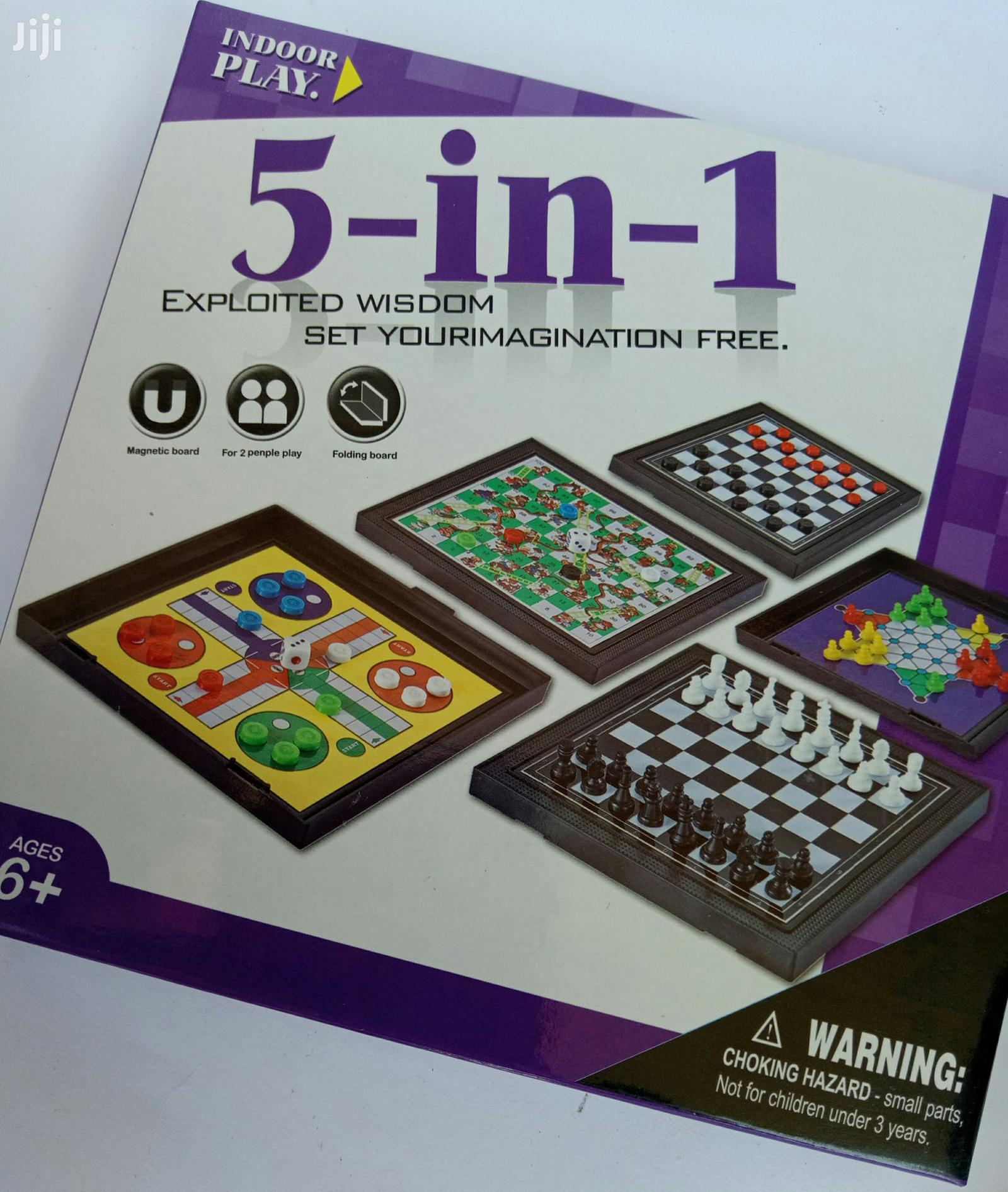 Chess Game - Mini Five - In - One Board Game   Books & Games for sale in Akinyele, Oyo State, Nigeria
